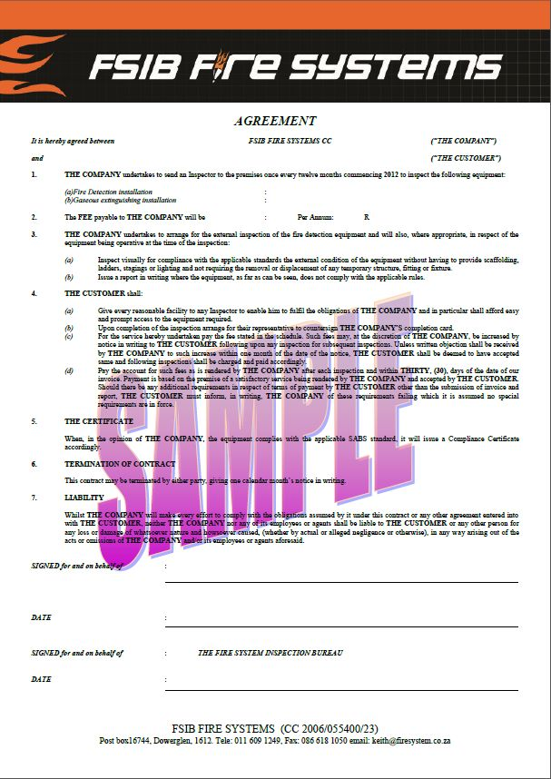 Sample of Contract